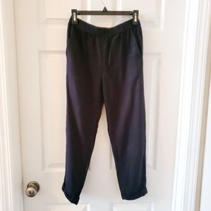 Madewell Cuffed Track Trousers, Black, Size S